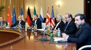 Secretary of Iran's Supreme National Security Council (SNSC) Saeed Jalili (third R) was heading the Iranian negotiating delegation in the talks with the P5+1 in Baghdad.